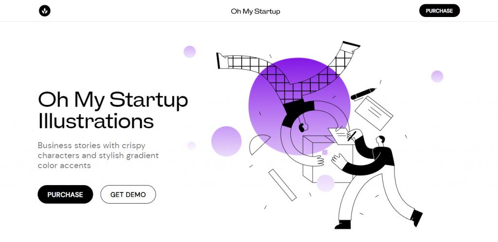 e-Commerce App Design: Absurd Illustrations