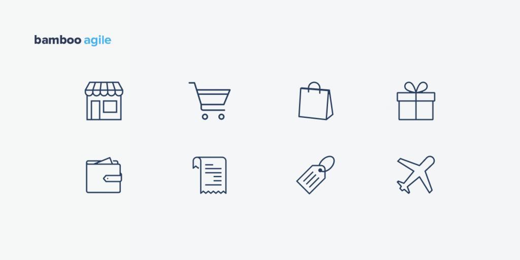 icons - ecommerce app design trends